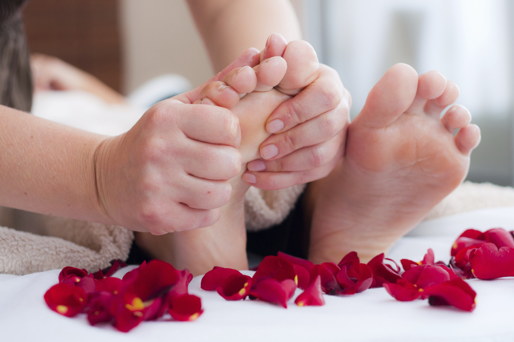 Foot massage or Reflexology